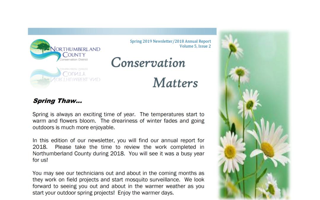 Spring 2019 Newsletter, Vol 5, Issue 2