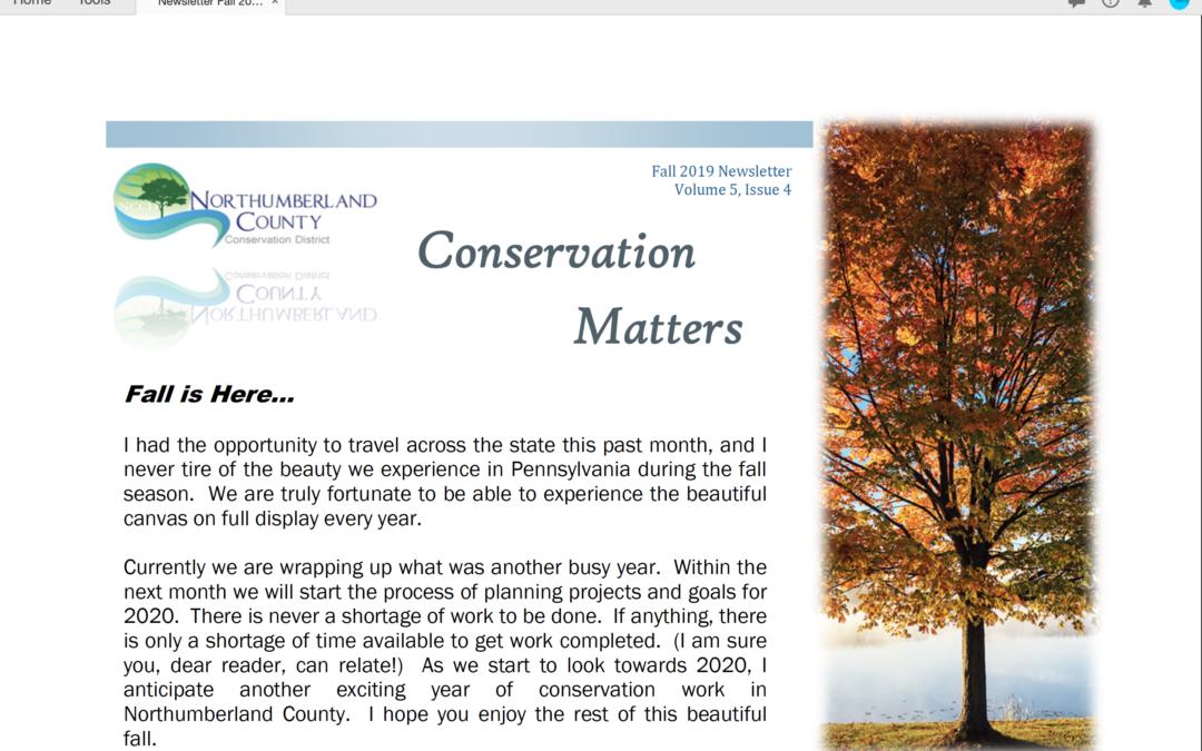 Fall 2019 Newsletter Volume 5, Issue 4