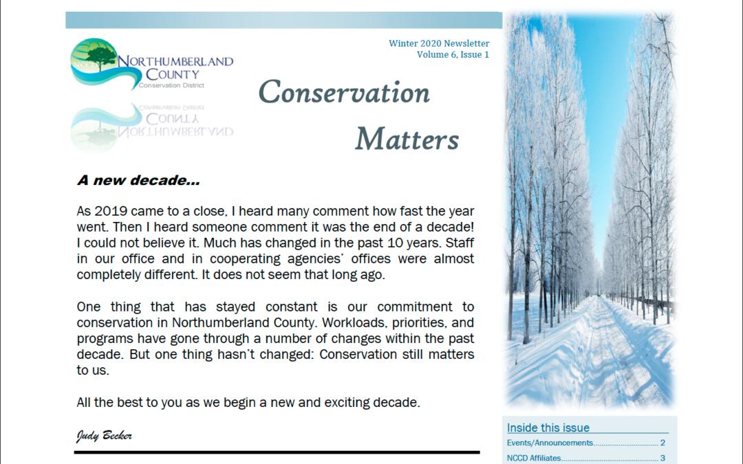 Winter 2020 Newsletter Volume 6, Issue 1